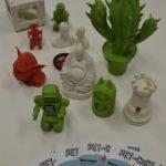 Itens impressos pela impressora 3D